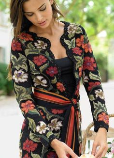 "Cardigan ""Summer Meadow"" .. Discussione  I already pinned this but I love it sooo much I'm pinning it again! Lol"