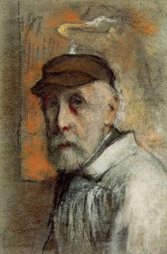 Self-portrait by Edgar Degas, ca. 1895-00, Pastel on paper.