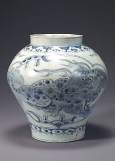 [Joseon Dynasty, 19th Century] Blue and White Porcelain Jar