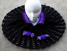Includes instructions for poncho/cape as shown, with or without collar. Spider and bee bobbles also included.