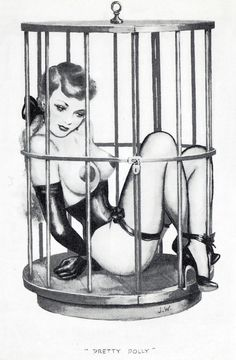tied and caged