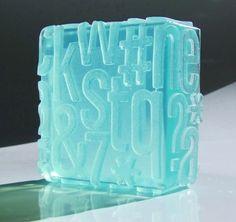 typographic soap