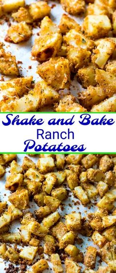 Shake and Bake Ranch Potatoes #sidedish #potatoes #recipe #easyrecipes via @FMSCLiving