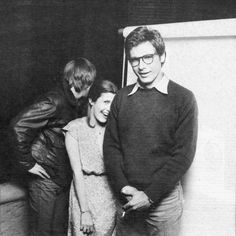 Mark Hamill, Carrie Fisher & Harrison Ford, 1977