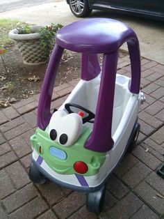Little Tikes Cars For Toddlers Toy Story Room, Toy Story Party, Toy Story Birthday, 2nd Birthday, Little Tykes Car, Little Tikes Makeover, Cozy Coupe Makeover, Pokemon, To Infinity And Beyond