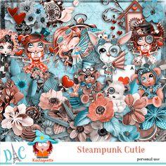 Steampunk Cutie by Kastagnette [kasta_SteampunkCutie] - Steampunk, Kit, Scrapbook Pages, Smash Book Pages
