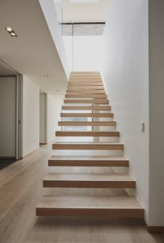 Casa S Stairs - Christoffersen & Weiling Architects - Audrye Liverseege Dream House Exterior, Dream House Plans, Escalier Design, Residential Architecture, Building Architecture, Architecture Design, House Stairs, Staircase Design, Aarhus
