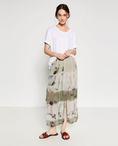 Image 1 of TIE-DYE SKIRT from Zara