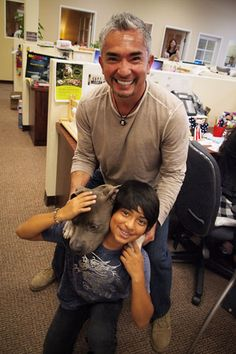 Father & son Cesar Millan, Born: August 27, 1969,  is a Mexican dog trainer. A self-taught expert, he is widely known for his television series Dog Whisperer with Cesar Millan, broadcast in more than eighty countries worldwide from 2004 to 2012.