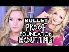 My BULLETPROOF Foundation Routine! Sweat / Heat / Humidity Resistant | Casey Holmes - YouTube
