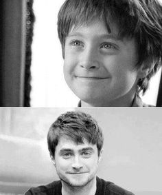 Harry Potter Daniel Radcliffe Then and Now Harry Potter Magic, Harry Potter Actors, Harry James Potter, Harry Potter Universal, Harry Potter World, Daniel Radcliffe Harry Potter, Twilight Photos, Yer A Wizard Harry, Harry Potter Pictures
