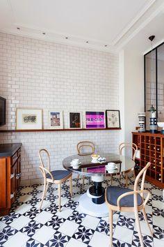 Eklektyczne paryskie mieszkanie projektantki wnętrz Sandry Benhamou - Wnętrza - Aranżacja i wystrój wnętrz - Dom z pomysłem