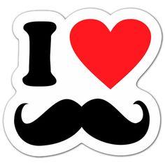 Pegatinas: I love Mostacho