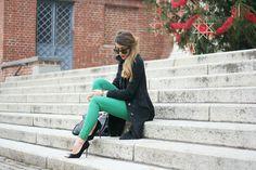 GREEN  (by Nicoletta Reggio) http://lookbook.nu/look/4399475-GREEN