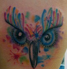 abstract tattoo owl by TatsHuka.deviantart.com on @deviantART