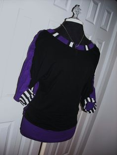 TwoToned Slouchy Dolman Top w/ Ruched by NeedleSlaveDesigns,