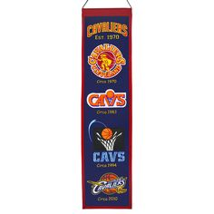 Cleveland Cavaliers Wool Heritage Banner