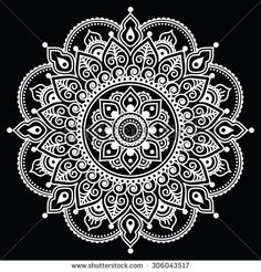 Stock Images similar to ID 284512841 - indian henna tattoo pattern or ...