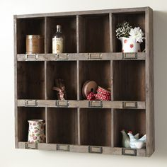 rustic wooden pigeon hole unit from live.laugh.love.