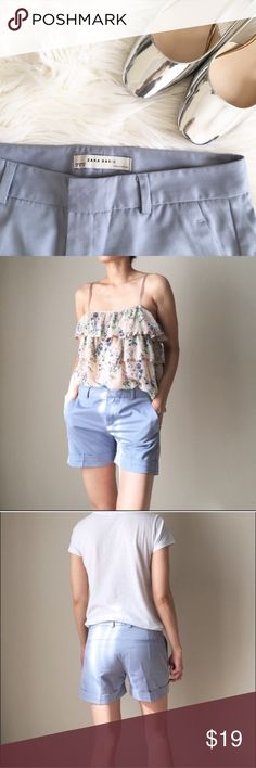 ZARA summer shorts Size M but I find it a lil to snug even for an m. Meant for size s body type. Almost new! I just never got a chance to wear em out. Other than for the cover shot Zara Shorts