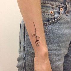 tattoo, grunge, and rose resmi