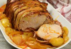 Egyben sült karaj Hungarian Recipes, Pork Dishes, Air Fryer Recipes, Pork Recipes, Sausage, Food And Drink, Fish, Tricks, Google