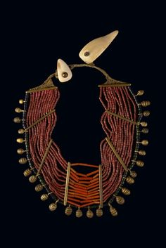 naga beaded necklace. india.