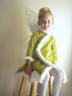 Tinkerbell jacket for a cold Halloween night. Don't know if i can make