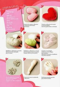 Revista San Valentin gratis - Revistas de manualidades gratis Clay Tutorials, Polymer Clay, Kawaii, Fabric Dolls, Molde, Fabric Roses, Cotton Canvas, Polymer Clay Tutorials, Free Downloads