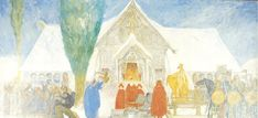 Carl Larsson's second sketch for Midvinterblot from 1913 Carl Larsson, Nordic Art, Web Gallery, Sketch 2, Arts And Crafts Movement, Large Painting, Museum Of Fine Arts, National Museum, Impressionism