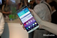LG G3 Hands On: It's All About the Screen - MASHABLE #LGG3, #Tech