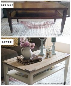 diy farmhouse style coffee table