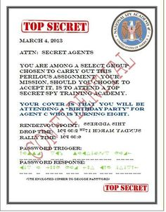 Spy Party: The Invitations
