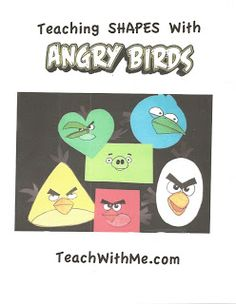 Teaching Shapes With Angry Birds  - Pinned by @PediaStaff – Please Visit  ht.ly/63sNt for all our pediatric therapy pins