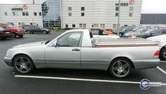 Mercedes-Benz S-Klasse Limousine - Pickupumbau Mercedes Maybach, Merc Benz, Flower Car, Cars, Sick, Christmas, Yule, Xmas, Vehicles