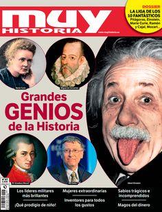 ¡Grandes genios de la Historia en la última Muy Historia! encuéntrala en tu kiosco habitual.