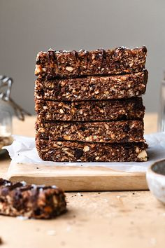 Chocolate Chip Peanut Butter Granola Bars - Cupful of Kale