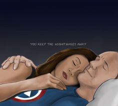 You keep the nightmares away by fangirl-extra-ordinaire || Melinda May, Phil Coulson || 736px × 661px || #fanart #philinda