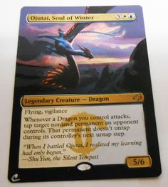 MTG Altered Painted Ojutai Soul of winter Fate Reforged #WizardsoftheCoast