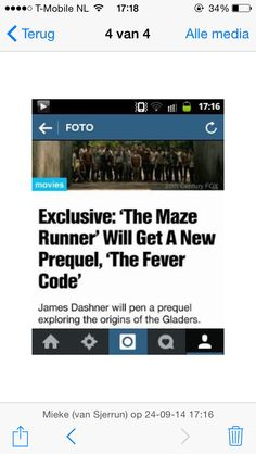 The Fever Code a prequel to The Maze Runner Maze Runner The Scorch, Maze Runner Movie, Maze Runner Trilogy, Maze Runner Series, The Fever Code, James Dashner, The Scorch Trials, Love Book, Book Series