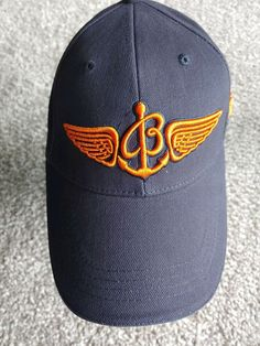c97a80ffe4088a Breitling Baseball Hat Cap Navy Blue Orange Accents adjustable strap new no  tag #fashion #