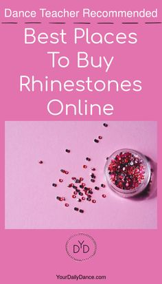 There is no one better to recommend the perfect place to buy rhinestones than a dance teacher. Not only are they looking for a quality product to enhance a costume or accessory, but also good customer service is important. Check out this list of recommended online stores.
