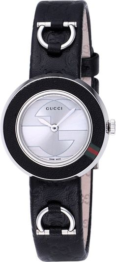 Gucci Watch , Gucci Women's YA129508 U-Play Small Black Leather Watch