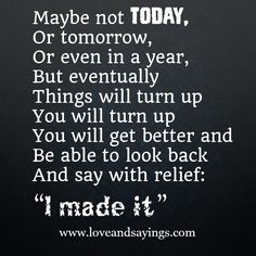 Maybe not today...