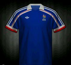 France home shirt for the 1986 World Cup Finals. Football Kits, Football Jerseys, World Cup Final, Football Wallpaper, Vintage Football, Team Shirts, Polo Ralph Lauren, Soccer, Finals