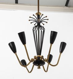 Italian 1950's Chandelier | From a unique collection of antique and modern chandeliers and pendants  at http://www.1stdibs.com/furniture/lighting/chandeliers-pendant-lights/