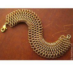 """Купить Браслет """"Ручной дракон"""". Кольчужное плетение. - кольчужное плетение, кольчужный браслет, кольчужные украшения"""