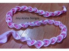 Ribbon art.ribbon lace.ribbon manipulaition no 4 - YouTube
