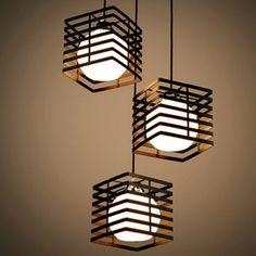 Lampes suspendues métal carré bar pendentif lampes amparas lustres éclairage moderne luminaire avize hanglamp suspension luminaire(China (Mainland))