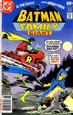 Batman Family: Featuring Robin and Batgirl, Dollar Comics, 1970s, comic books, Giant, Man-Bat, anthology